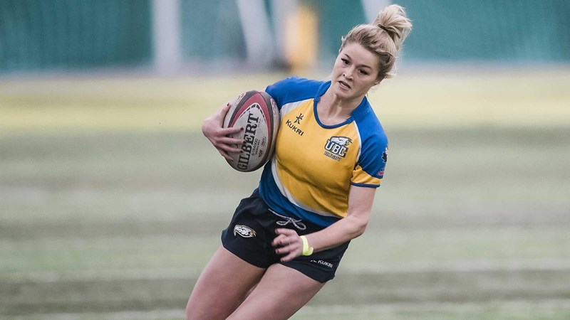 T-Birds strike late to down Pronghorns in Rugby 7s series opener - University of British Columbia Athletics